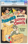 Golden Age (1938-1955):Cartoon Character, Four Color #19 Thumper Meets the Seven Dwarves - Crowley Copypedigree (Dell, 1942) CGC VG/FN 5.0 Off-white pages....