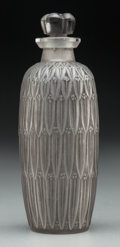 Art Glass:Lalique, R. Lalique Frosted Glass Petite Feuilles Perfume with GrayPatina. Circa 1910. Engraved R. Lalique France, No....