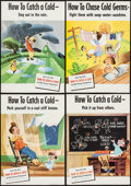 "Movie Posters:Documentary, How to Catch a Cold (RKO, 1951). Posters (5) (14"" X 20""). Documentary.. ... (Total: 5 Items)"