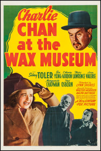 """Charlie Chan at the Wax Museum (20th Century Fox, 1940). One Sheet (27"""" X 41""""). Mystery"""
