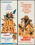 """Movie Posters:Adventure, Beau Geste & Others Lot (Universal, 1966). Inserts (5) (14"""" X36""""). Adventure.. ... (Total: 5 Items)"""