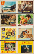 "Movie Posters:Adventure, King of the Khyber Rifles & Others Lot (20th Century Fox,1954). Lobby Cards (30), Lobby Card Set of 8, & Title Card (11""X ... (Total: 39 Items)"
