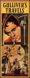 "Movie Posters:Animation, Gulliver's Travels (Paramount, 1939). Insert (14"" X 36""). Animation.. ..."