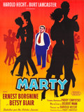 "Movie Posters:Drama, Marty (United Artists, 1955). French Grande (45.5"" X 61"").. ..."