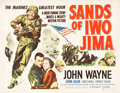 "Movie Posters:War, Sands of Iwo Jima (Republic, 1950). Half Sheet (22"" X 28"") StyleB.. ..."