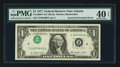 Error Notes:Inverted Third Printings, Fr. 1909-F $1 1977 Federal Reserve Note. PMG Extremely Fine 40EPQ.. ...
