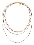 Estate Jewelry:Necklaces, Multi-Stone, Gold Necklace, Patricia Makena. ...