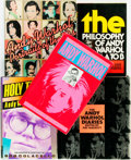 Books:Biography & Memoir, [Andy Warhol, subject] [Biography]. Group of Five Books. Variouspublishers and dates.... (Total: 5 Items)