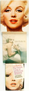 Books:Biography & Memoir, [Marilyn Monroe, subject]. Group of Three Biographies, One of Whichis SIGNED. Various publishers and dates.... (Total: 3 Items)