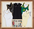Autographs:Baseballs, 1999-2002 Serena Williams Match Used, Signed Dresses Display (5),With Provenance from Puma CEO....