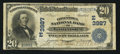 National Bank Notes:Pennsylvania, Lancaster, PA - $20 1902 Date Back Fr. 644 The Conestoga NB Ch. #(E)3987. ...