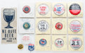 Political:Pinback Buttons (1896-present), Third Party and Cause Items: Collection of fifteen items as shown, including great H. Rapp Brown humorous button. All in exc...