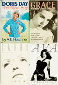 Books:Biography & Memoir, [Film Actresses]. [Biography]. Group of Four Books. Variouspublishers and dates.... (Total: 4 Items)