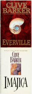 Books:Horror & Supernatural, Clive Barker. Pair of Titles. HarperCollins Publishers, [1991 and 1994].... (Total: 2 Items)