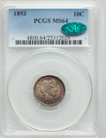 Barber Dimes: , 1893 10C MS64 PCGS. CAC. PCGS Population (60/86). NGC Census:(60/68). Mintage: 3,340,792. Numismedia Wsl. Price for proble...
