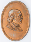 Political:3D & Other Display (pre-1896), Benjamin F. Butler: Large bronze-finish lead plaque, similar to BB-1884-2. Minor wear to finish, otherwise excellent conditi...