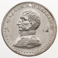 Political:Tokens & Medals, William Henry Harrison: Uncommon larger-size campaign medal in virtually uncirculated condition, WHH 1840-18 in DeWitt/Sulli...