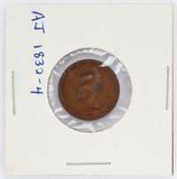 Andrew Jackson: Rare Inaugural medalet struck in COPPER. AJ 1832-4 in DeWitt/Sullivan. Choice chocolate brown condition...