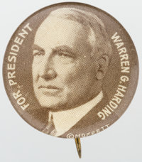 """Warren G. Harding: One of the nicest 7/8-inch portrait designs which can be """"mated"""" with a Davis counterpart..."""