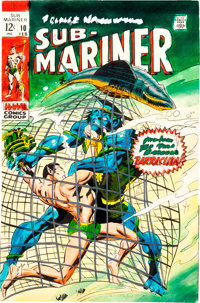 Gene Colan Sub-Mariner #10 Cover Color Guide ... (Total: 2 Original Art)