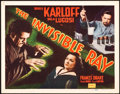 """Movie Posters:Horror, The Invisible Ray (Realart, R-1948). Title Lobby Card (11"""" X 14"""").. ..."""