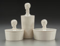 Art Glass, Three Hattie Carnegie Ceramic Powder Boxes by Lenox. Circa 1940. Ht. 7-1/4 in. (largest). ... (Total: 3 Items)