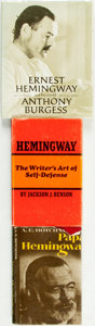 Books:Biography & Memoir, [Ernest Hemingway, subject] [Biography] [Literary Criticism]. Groupof Three Titles about Hemingway. Various publishers and ... (Total:3 Items)