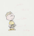 Animation Art:Production Drawing, Bill Melendez - Race for Your Life, Charlie Brown! CharlieBrown Color Model Drawing (United Features, 1977). ...