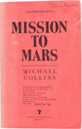 Explorers:Space Exploration, Buzz Aldrin's Personal Signed and Annotated Copy of MichaelCollins' Book Mission to Mars. ...