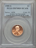 Proof Lincoln Cents, 1989-S 1C PR70 Red Deep Cameo PCGS. PCGS Population (211). NGC Census: (34). Numismedia Wsl. Price for problem free NGC/PC...