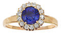 Estate Jewelry:Rings, Antique Sapphire, Diamond, Gold Ring. ...