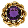Estate Jewelry:Brooches - Pins, Victorian Amethyst, Gold Brooch. ...