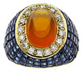 Estate Jewelry:Rings, Citrine, Sapphire, Diamond, Gold Ring. ...