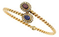 Estate Jewelry:Bracelets, Sapphire, Garnet, Diamond, Gold Bracelet. ...