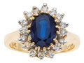 Estate Jewelry:Rings, Sapphire, Diamond, Gold Ring, LeVian. ...