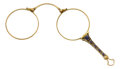 Estate Jewelry:Other , Sapphire, Gold Lorgnette. ...