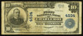 National Bank Notes:Pennsylvania, Charleroi, PA - $10 1902 Plain Back Fr. 627 The First NB Ch. # 4534. ... (Total: 2 items)