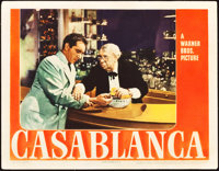 "Casablanca (Warner Brothers, 1942). Lobby Card (11"" X 14""). Academy Award Winners"