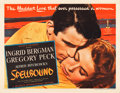 "Movie Posters:Hitchcock, Spellbound (United Artists, 1945). Half Sheet (22"" X 28"") PortraitStyle.. ..."