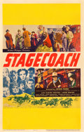 """Movie Posters:Western, Stagecoach (United Artists, 1939). Window Card (14"""" X 22"""").. ..."""