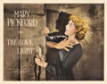 "Movie Posters:Drama, The Love Light (United Artists, 1921). Half Sheet (21.5"" X 27.5"")....."