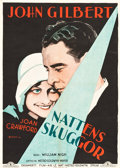"Movie Posters:Crime, Four Walls (MGM, 1928). Swedish One Sheet (27.5"" X 39.25"").. ..."