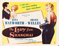 """The Lady from Shanghai (Columbia, 1947). Half Sheet (22"""" X 28"""")"""