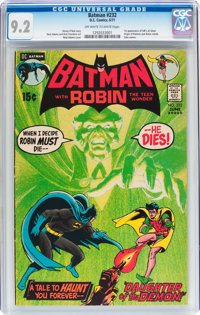 Batman #232 (DC, 1971) CGC NM- 9.2 Off-white to white pages