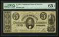 Confederate Notes:1861 Issues, T34 $5 1861 PF-10 Cr. 268.. ...