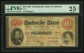 Confederate Notes:1861 Issues, T24 $10 1861 PF-3 Cr. 159.. ...