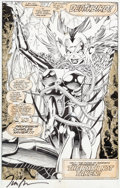 Original Comic Art:Splash Pages, Jim Lee and Scott Williams X-Men #274 Splash Page 22Deathbird Original Art (Marvel, 1991)....