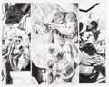 Original Comic Art:Panel Pages, Jim Lee Wizard #0 Batman #616A Two-Page Spread 2-3 Batman and Catwoman Original Art (DC/Wizard, 2003).... (Total: 2 Original Art)
