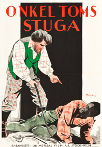 """Uncle Tom's Cabin (Universal, 1927). Swedish One Sheet (27.5"""" X 39.5"""")"""