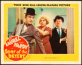 "Movie Posters:Comedy, Sons of the Desert (MGM, 1933). Lobby Card (11"" X 14"").. ..."